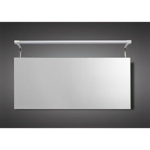 Mantra M5088 Sisley Wall Lamp LED Big Double IP44 Silver Frosted Acrylic Polished Chrome